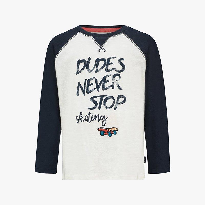 t-shirt manga comprida menino branca azul marinho Planta Kids 2