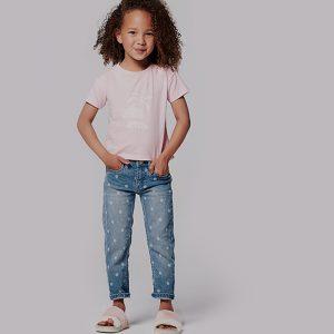 t-shirt menina rosa claro algodão orgânico Planta Kids 1