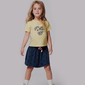 t-shirt menina amarela algodão orgânico Planta Kids 1