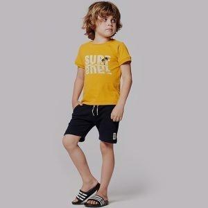 t-shirt menino amarela algodão Planta Kids 1