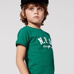 t-shirt rapaz verde algodão Planta Kids 1