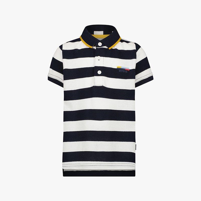 camisa polo menino riscas azul marinho branco Planta Kids 2
