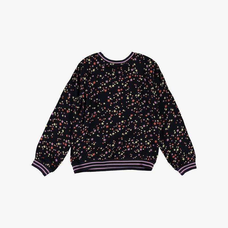 top blusa manga comprida menina preta estrelas Planta Kids 4