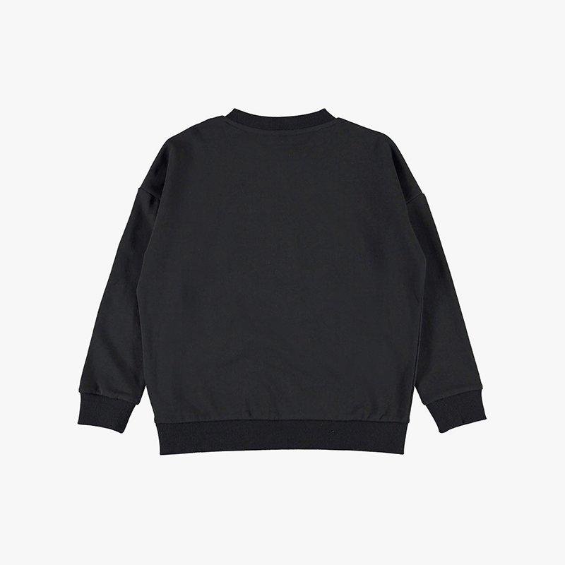 sweatshirt menina preta coração Planta Kids 3