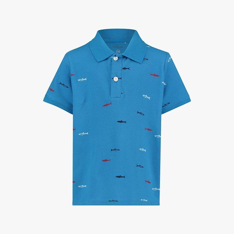 camisa polo rapaz azul algodão Planta Kids 1