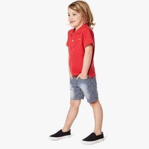 camisa polo menino algodão orgânico vermelha Planta Kids 1