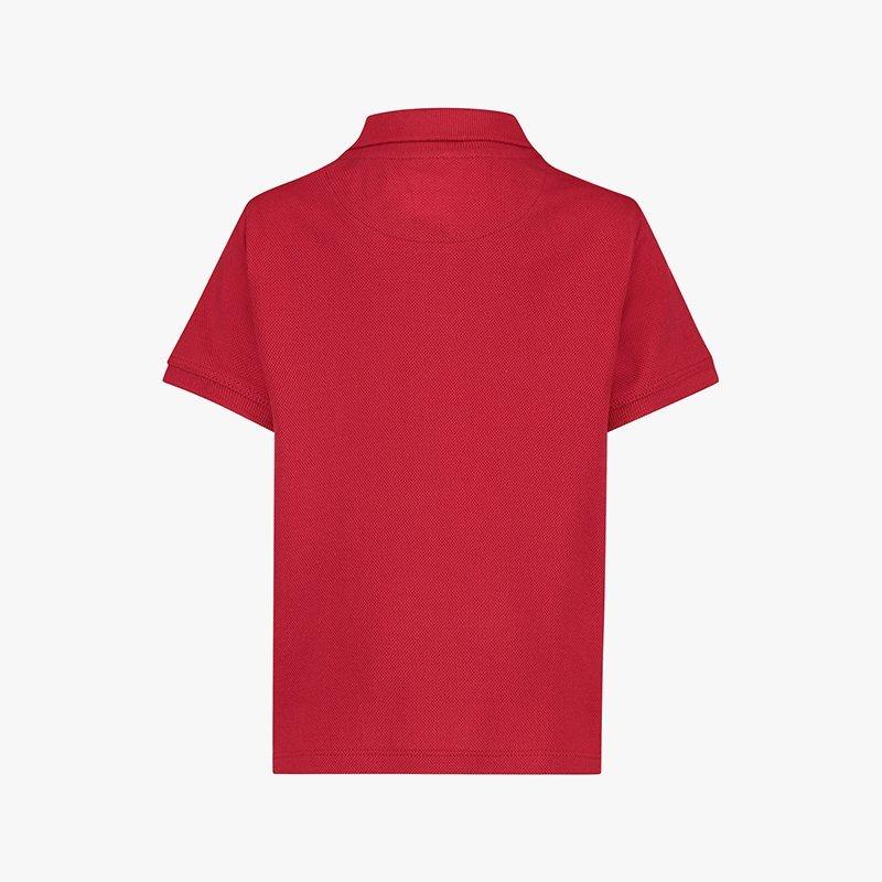 camisa polo menino algodão orgânico vermelha Planta Kids 5