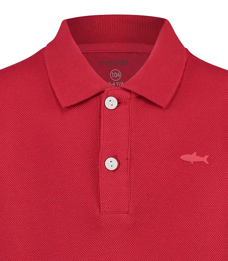 camisa polo menino algodão orgânico vermelha Planta Kids 3