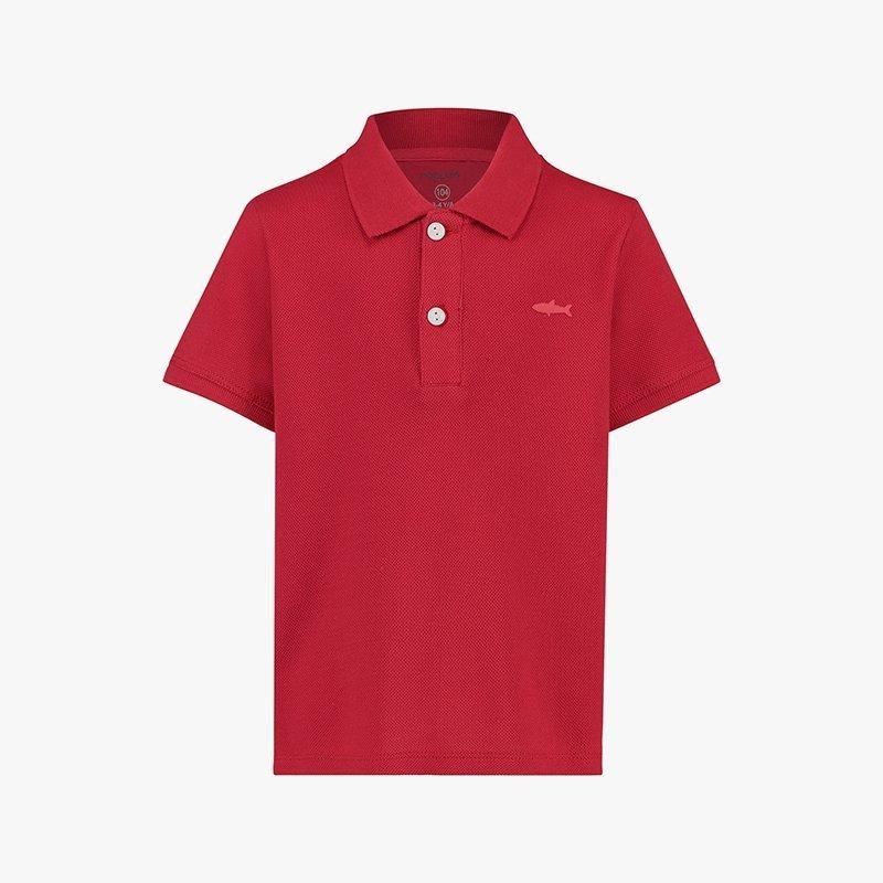 camisa polo menino algodão orgânico vermelha Planta Kids 2