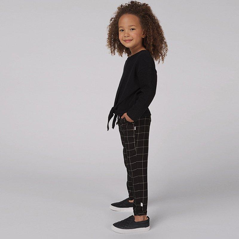 top blusa manga comprida menina com laço preta Planta Kids 3