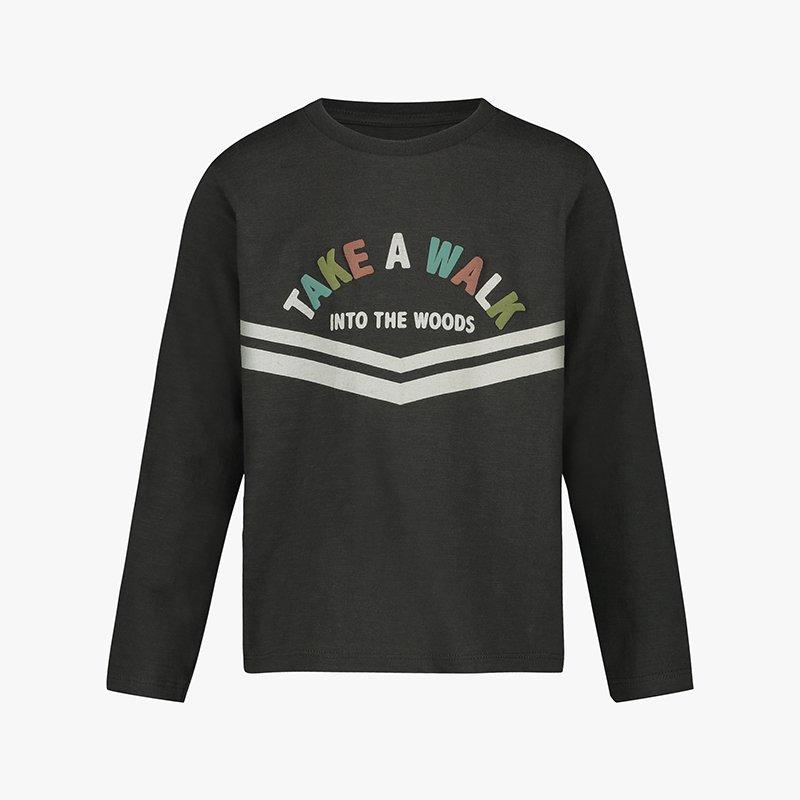 P PFt-shirt manga comprida menino cinzenta algodão orgânico Planta Kids 2