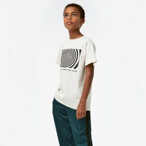t-shirt menino menina off white tempo algodão orgânico Planta Kids 1