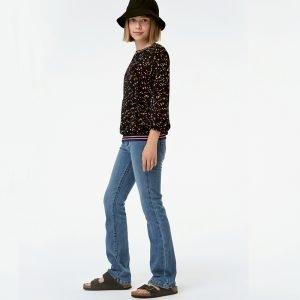 top blusa manga comprida menina preta estrelas Planta Kids 1