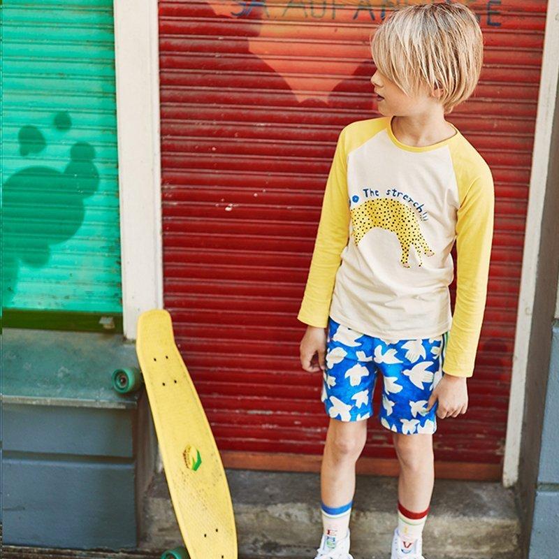 t-shirt manga comprida menino menina algodão orgânico amarela Planta Kids 3