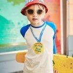 t-shirt manga comprida menino menina algodão orgânico azul Planta Kids 1