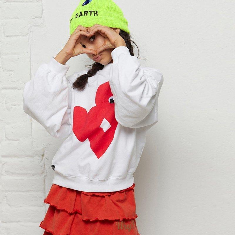 sweatshirt menina branca mangas bispo Planta Kids 3