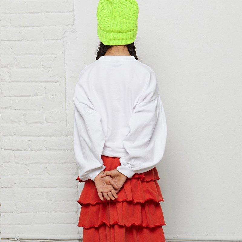 sweatshirt menina branca mangas bispo Planta Kids 4
