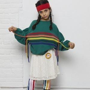 sweatshirt menina manga bispo verde rainbow Planta Kids 3