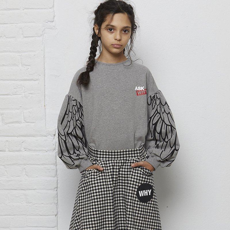 sweatshirt menina cinzenta manga bispo asas Planta Kids 5