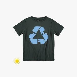 t-shirt menino menina solar muda cor preta Planta Kids 1