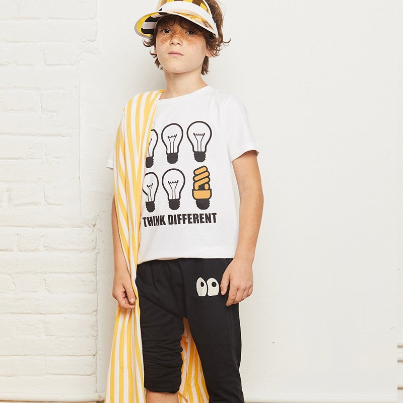 t-shirt menina menino solar muda cor branca Planta Kids 1