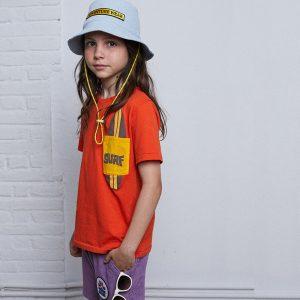 t-shirt menino menina laranja surf Planta Kids 1