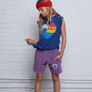 t-shirt top menina azul índigo com som Planta Kids 1