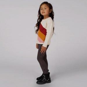 camisola menina off white color block algodão orgânico Planta Kids 1