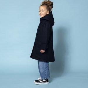 casaco parka lã forrada repelente água menina azul marinho Planta Kids 1