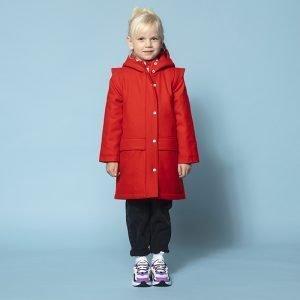casaco parka lã forrada repelente água menina vermelha encarnada Planta Kids 1