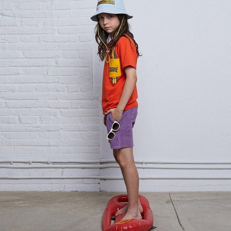 calções atoalhados lilás menino menina Planta Kids
