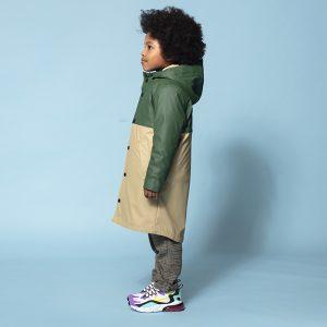 casaco impermeável menino menina jaqueta interior peluche removível Planta Kids 1