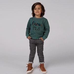 sweatshirt menino menina verde Planta Kids 1