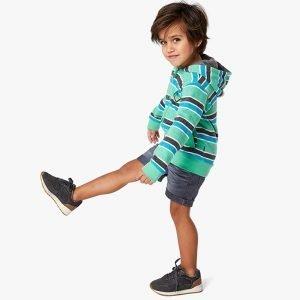 sweatshirt menino com fecho algodão riscas Planta Kids 1